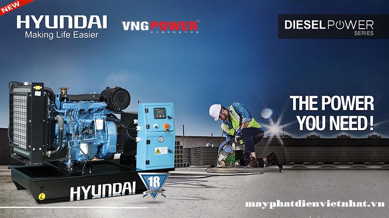 Nhà phân phối máy phát điện hyundai hàn quốc