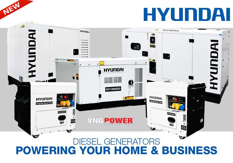 Giới thiệu máy phát điện hyundai
