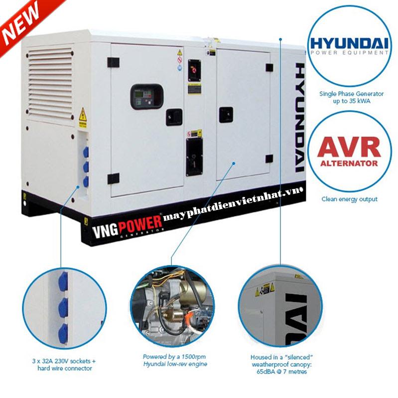 Phụ tùng máy phát điện hyundai