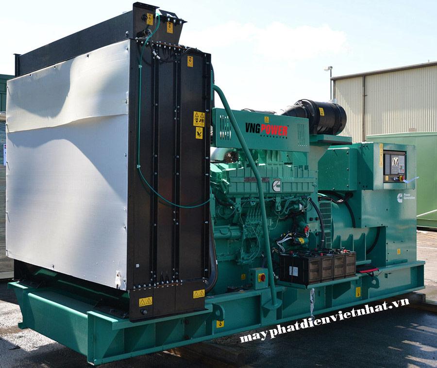 máy phát điện công nghiệp cở lớn, công suất lớn cummins 1000kva