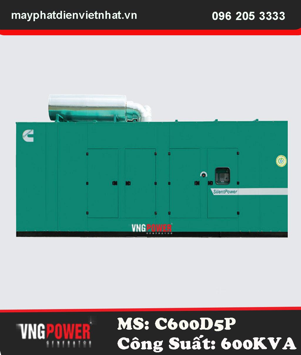 Máy phát điện Cummins Ấn Độ 600Kva – C600D5P – K19Series